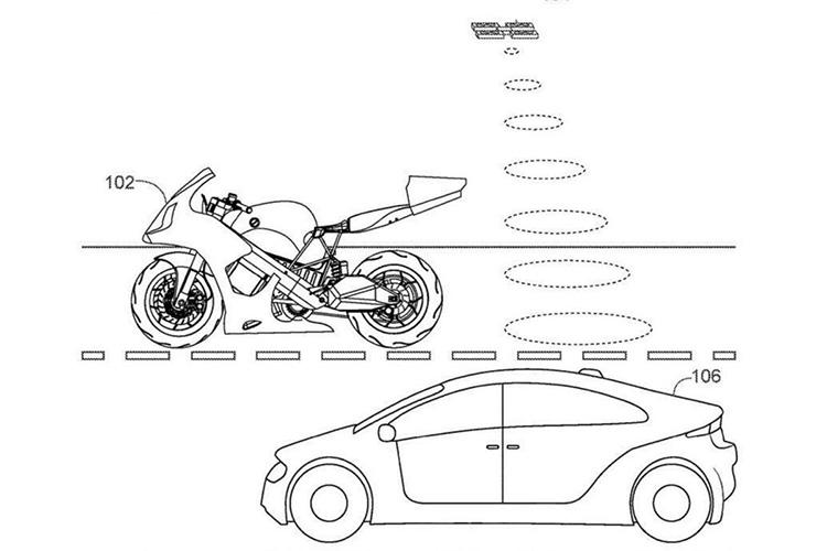 Honda запатентовала электробайк со встроенным квадрокоптером