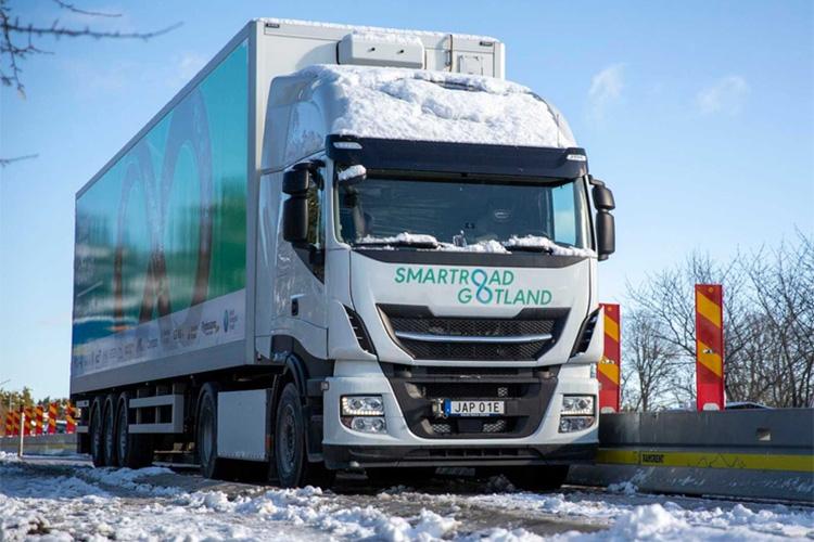 40-тонный электрический тягач на острове Готланд в Швеции