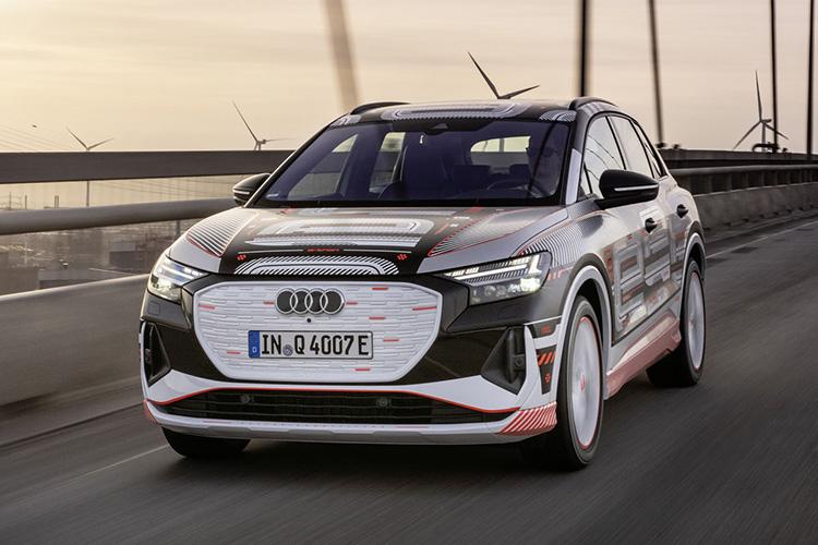 Audi Q4 e-tron в камуфляже