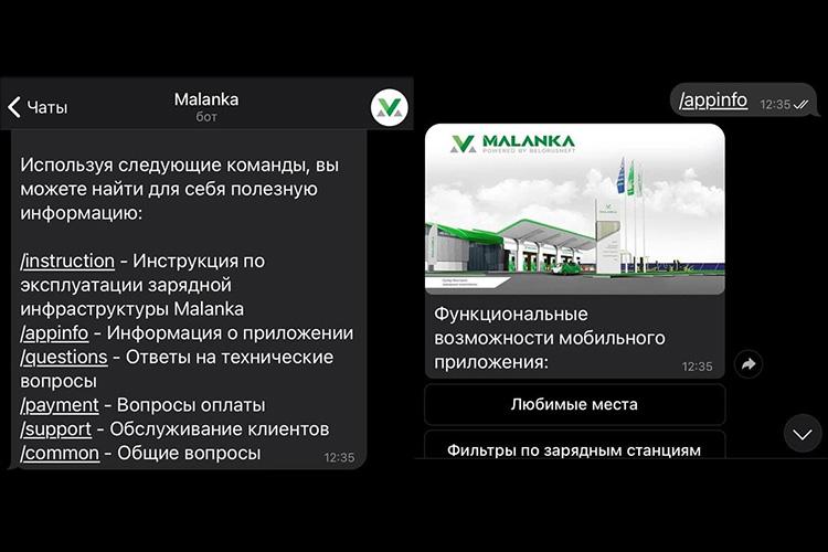 Malanka запустила чат-бот для владельцев электромобилей