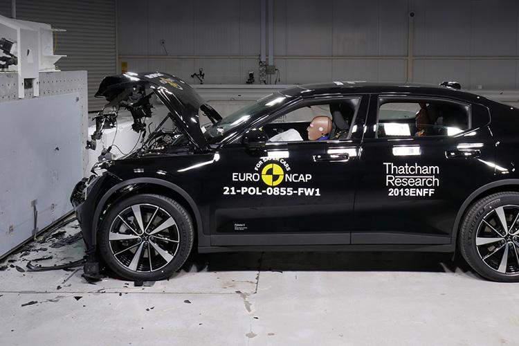 Polestar 2 краш-тест Euro NCAP