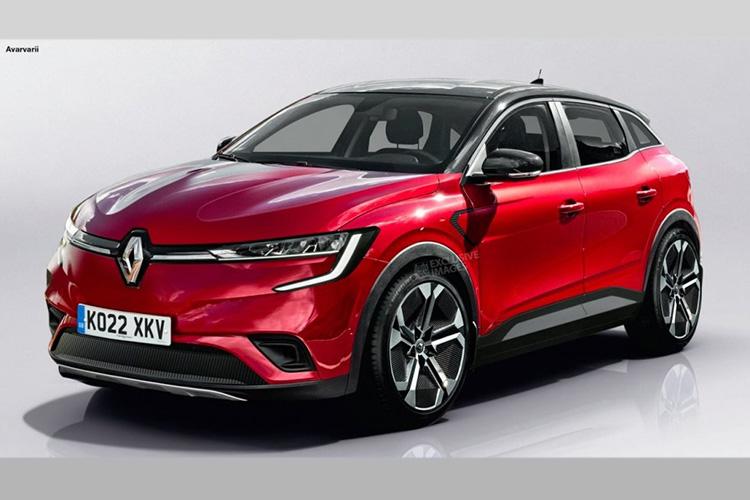 Renault Megane EV рендер