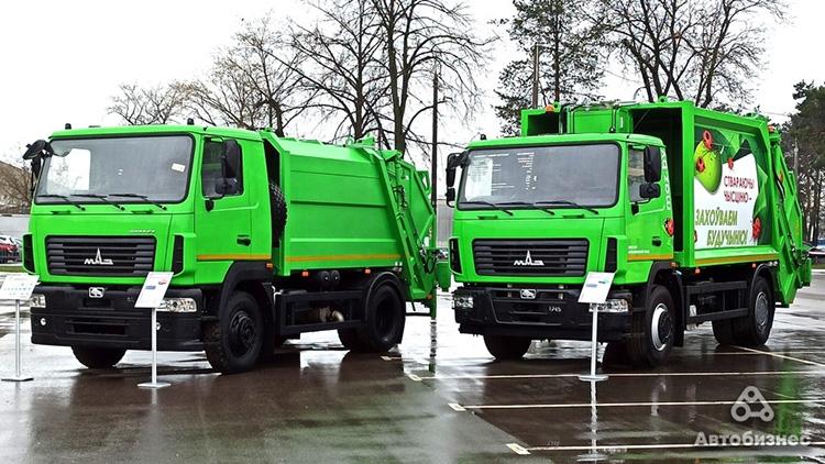 мусоровозы МАЗ-4901С0 и МАЗ-5904С2