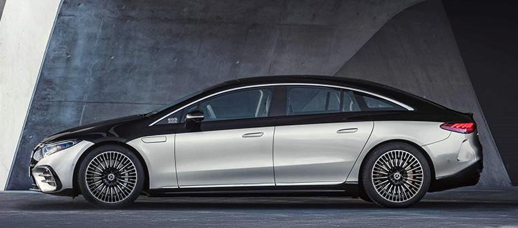 Mercedes-Benz EQS вид сбоку