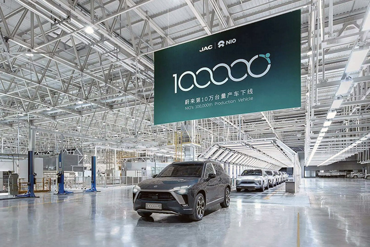 NIO выпустил 100-тысячный электромобиль