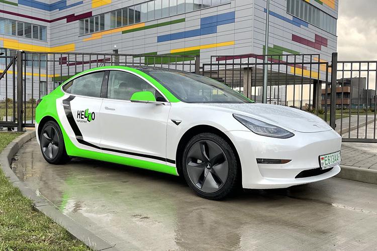 Tesla Model 3 каршеринг Hello
