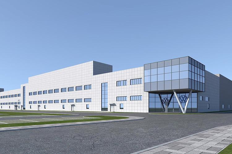 завод Volkswagen Anhui Китай рендер