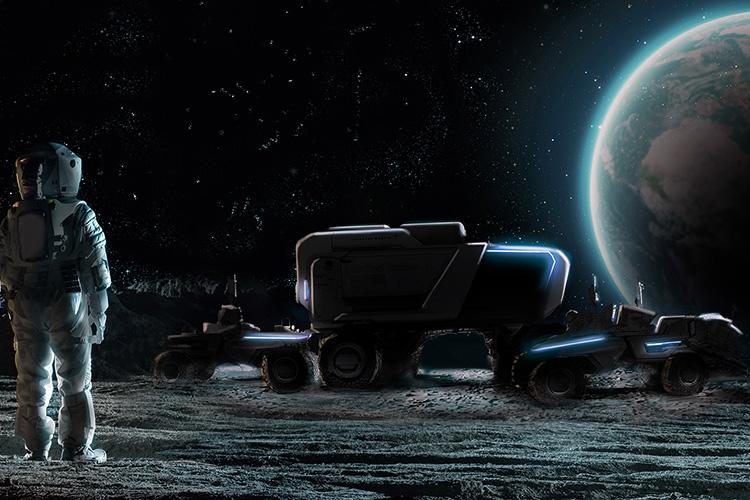 Lockheed Martin и General Motors лунный электромобиль