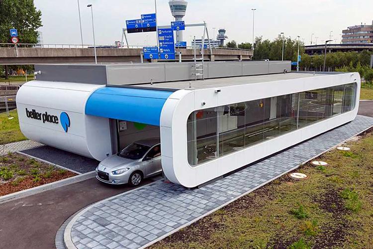 станция смены батарей Renault