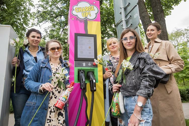 в Минске появилась первая ЭЗС Malanka для леди