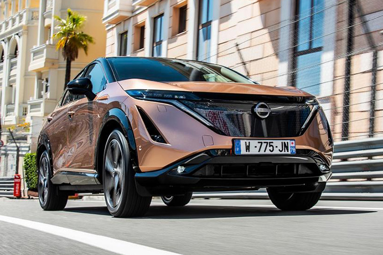 Nissan Ariya тесты в Монако