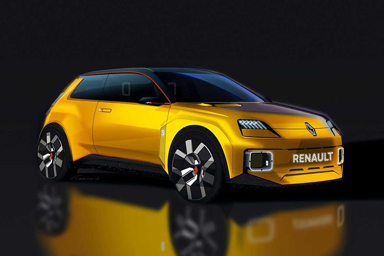 электрокар Renault 5 рендер