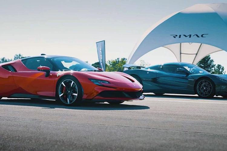 Rimac Nevera посоревновался с Ferrari SF90 Stradale