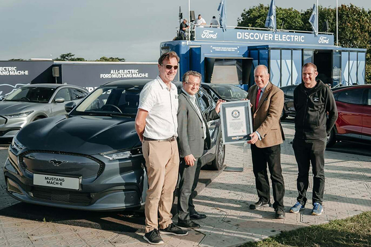 Ford Mustang Mach-E стал новым рекордсменом Книги рекордов Гиннесса среди электромобилей по энергоэффективности