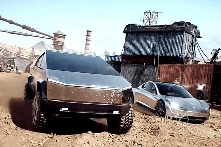 фантастический трейлер Tesla Cybertruck и Roadster PUBG Mobile
